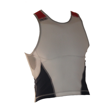 Ironman tri top sleeveless new olympic white/blue men