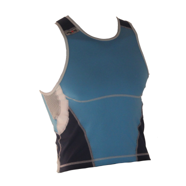 Ironman tri top sleeveless new olympic blue men