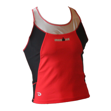Ironman Duofold sleeveless running top red/black men