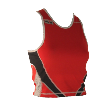 Ironman tri top sleeveless extreme red/black women