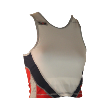 Ironman tri top sleeveless extreme 360 white/red/blue women