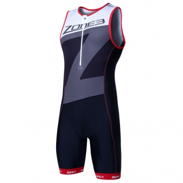 Zone3 Lava long distance tri suit black/white/grey/red men