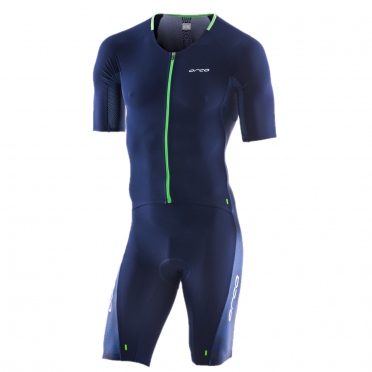 Orca 226 Perform aero race short sleeve trisuit blue/green men