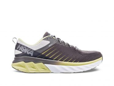 Hoka One One Arahi 3 wide running shoes grey/yellow men