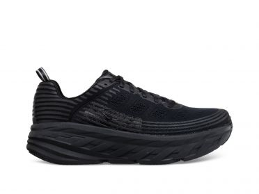 Hoka One One Bondi 6 wide running shoes black men