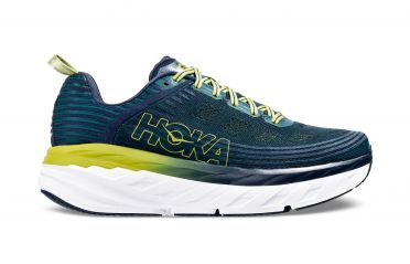 Hoka One One Bondi 6 running shoes blue/yellow men