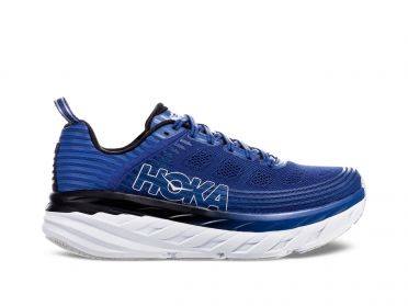 Hoka One One Bondi 6 wide running shoes blue/white men