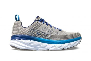 Hoka One One Bondi 6 wide running shoes blue/grey men