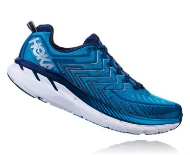 Hoka One One Clifton 4 running shoes blue men