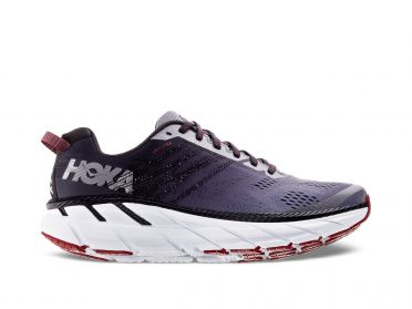 Hoka One One Clifton 6 running shoes purple/white men