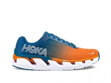 Hoka One One Elevon running shoes blue/orange men