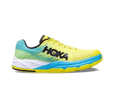 Hoka One One Evo Carbon Rocket running shoes blue/yellow men