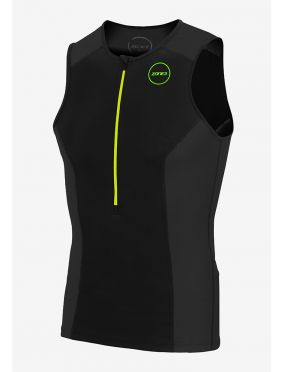 Zone3 Aquaflo plus sleeveless tri top black men