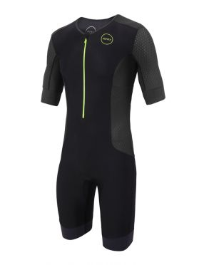 Zone3 Aquaflo plus short sleeve trisuit black men