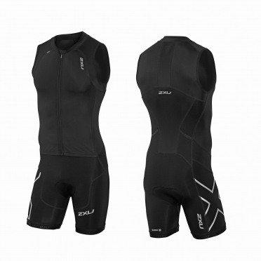 2XU Compression Full Zip trisuit black men