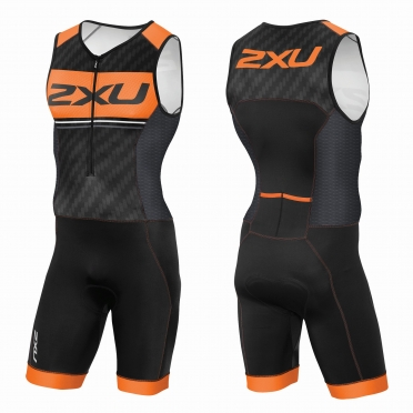 2XU Perform Pro trisuit black/orange men
