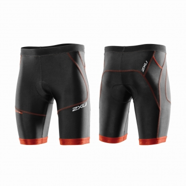 "2XU Perform 9"" Tri short black/red men"