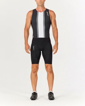 2XU Project X swim skin black/white men