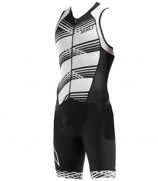 2XU Compression sleeveless trisuit black/white men