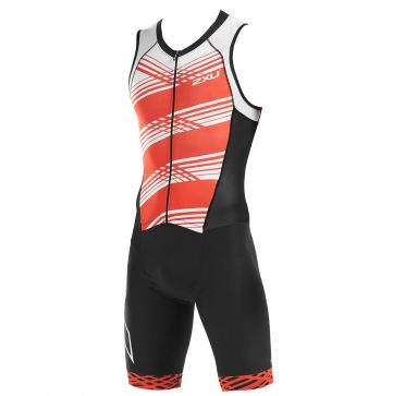 2XU Compression sleeveless trisuit black/red men