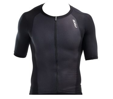 2XU Compression Short sleeve tri top black men