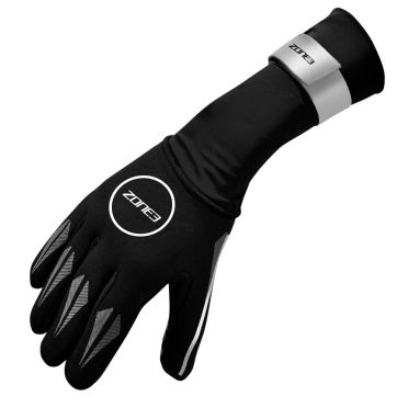 Zone3 Neoprene Swim gloves reflective silver