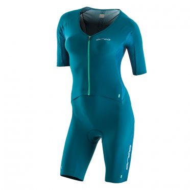 Orca 226 Kompress aero race trisuit green women