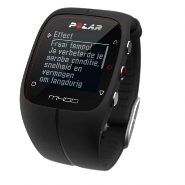 Polar M400 sports watch with GPS black
