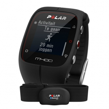 Polar M400 HRM sports watch with GPS black