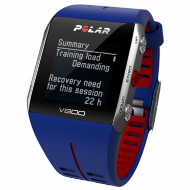 Polar V800 GPS sports watch with heart rate sensor blue/red