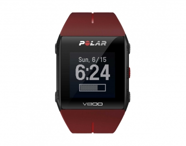 Polar V800 GPS sports watch with heart rate sensor red