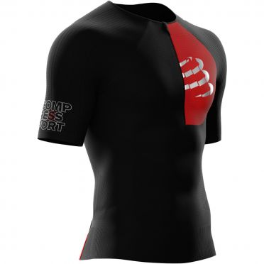 Compressport Postural Aero short sleeve compression tri top black men