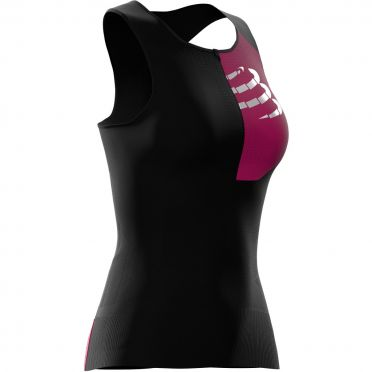 Compressport Postural sleeveless compression tri top black women