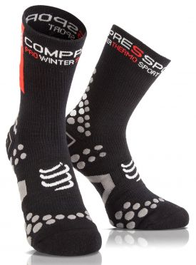 Compressport V2.1 winter bike socks black