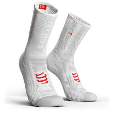 Compressport Pro racing v3.0 high cycling socks white