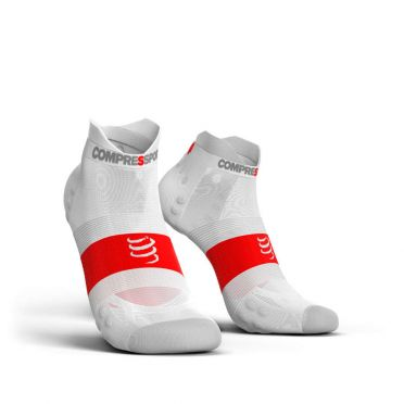 Compressport Pro Racing V3.0 ultralight low running socks white