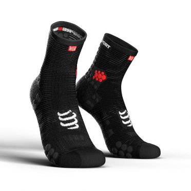 Compressport Pro racing v3.0 high running socks black