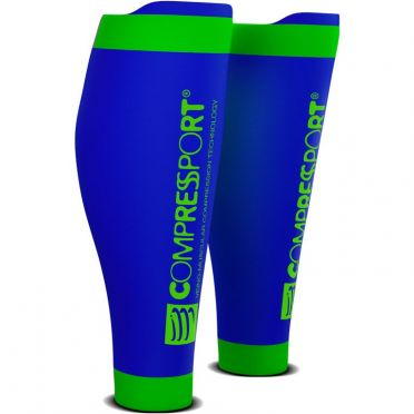 Compressport R2 v2 compression calf tubes blue