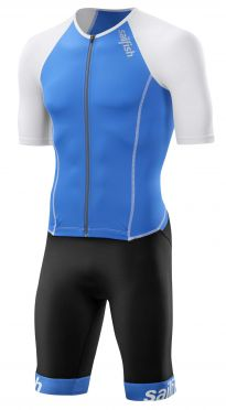 Sailfish Aerosuit comp short sleeve trisuit blue/white men