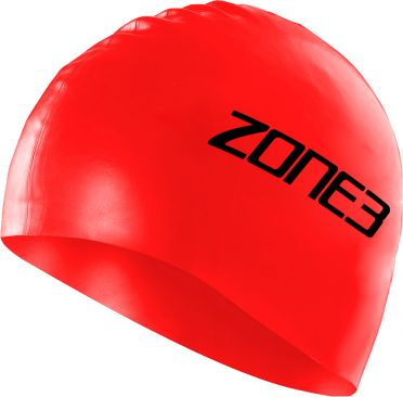 Zone3 Silicone swim cap red