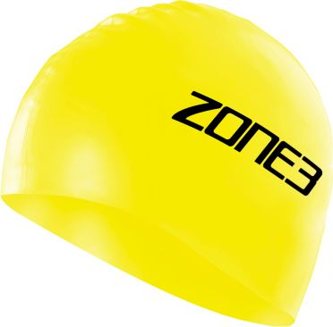 Zone3 Silicone swim cap yellow
