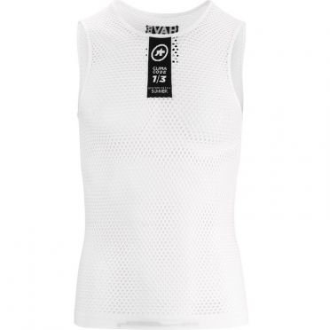 Assos Skinfoil NS Summer sleeveless baselayer white unisex