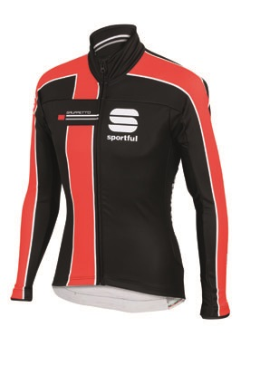 Sportful Gruppetto Partial WS jacket black-red men 01393-251