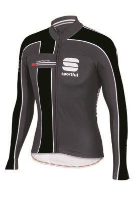 Sportful Gruppetto Thermal Jersey black-grey men 01394-168