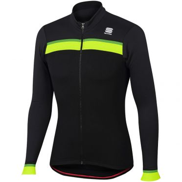 Sportful Pista thermal jersey black/anthracite men