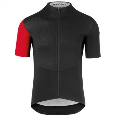 Assos SS.cento evo8 short sleeve cycling jersey black/red men