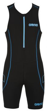 Arena ST front zip sleeveless trisuit black men