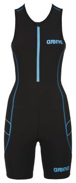 Arena ST front zip sleeveless trisuit black women
