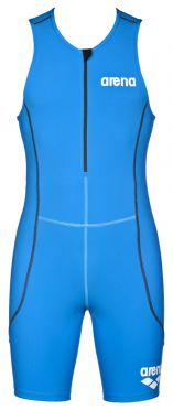 Arena ST front zip sleeveless trisuit blue men