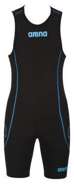 Arena ST rear zip sleeveless trisuit black men